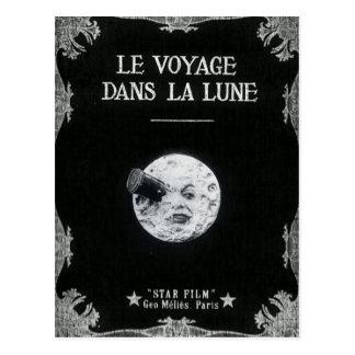 A Trip to the Moon Vintage Retro French Cinema Postcard