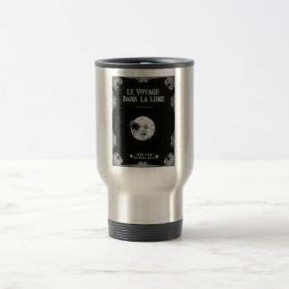 A Trip to the Moon Vintage Retro French Cinema Stainless Steel Travel Mug