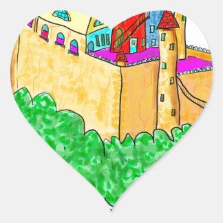 A troll and a castle heart sticker