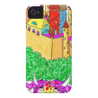 A troll and a castle iPhone 4 cases