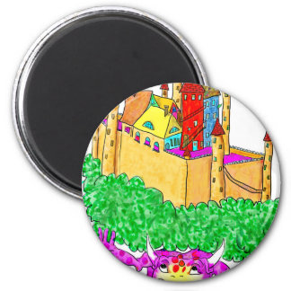 A troll and a castle magnet