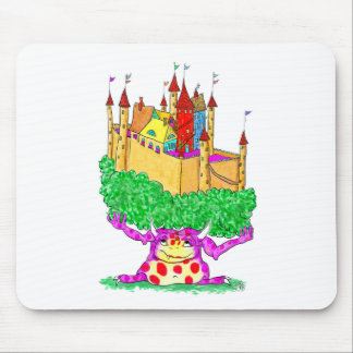 A troll and a castle mouse pad