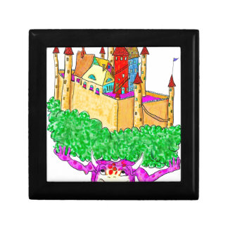 A troll and a castle small square gift box