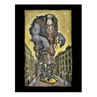 A Troll in the City Postcard
