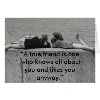 A True Friend Card