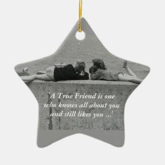 A True Friend Christmas Tree Ornament