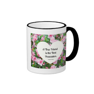 A true friend is the best possession. coffee mugs
