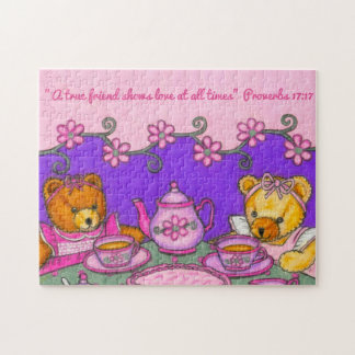 A True Friend-Love at all times~Bears Tea Party Jigsaw Puzzle