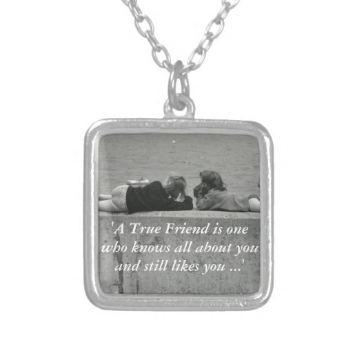 A True Friend Personalized Necklace