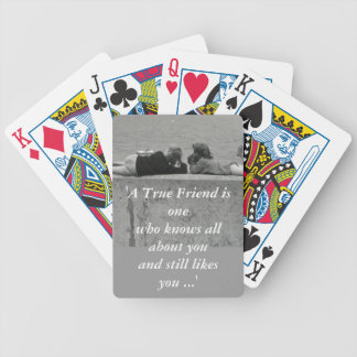 A True Friend Bicycle Poker Cards
