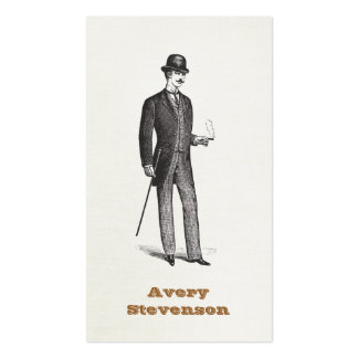 A True Gentleman In Bowler Hat Business Card