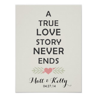 A True Love Story... | Canvas & Posters