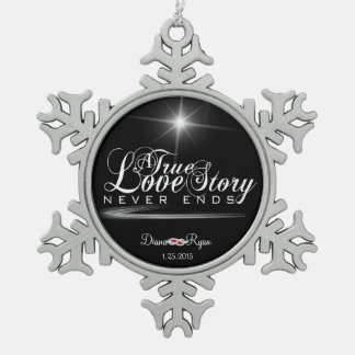 A True Love Story Never Ends Ornament
