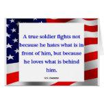 """""""A true soldier"""" card"""