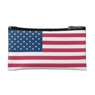 A truly patriotic gift: American Flag Cosmetic Bag