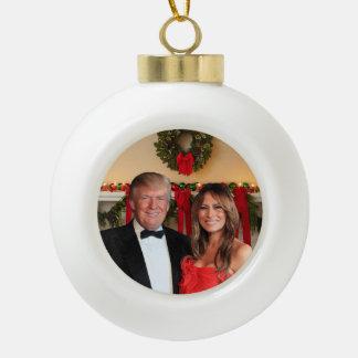 A Trump Christmas: Donald and Melania Ceramic Ball Christmas Ornament