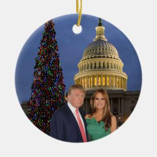 A Trump Christmas: Donald and Melania Ceramic Ornament