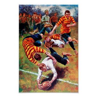 A Try - Vintage Rugby Art Poster