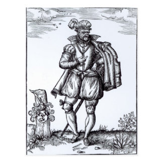 A Tudor Gentleman Postcard