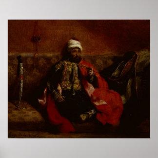 A Turk smoking sitting on a sofa, c.1825 Print