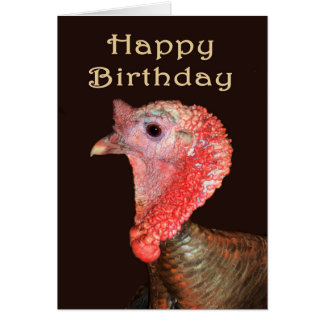 "A Turkey Portrait, Happy Birthday"" Humor. Card"