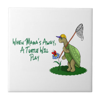 A Turtle Will Play Ceramic Tile