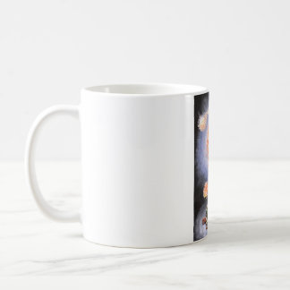 A turtle wondering in galaxy coffee mug