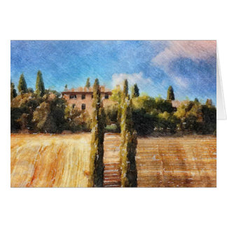 A Tuscan Hillside Card
