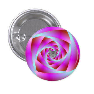 A Twist of Blue and Pink 3 Cm Round Badge