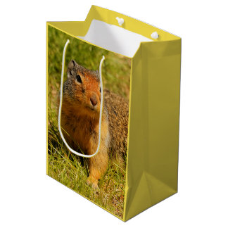 A Twitchy-Nosed Columbian Ground Squirrel Medium Gift Bag