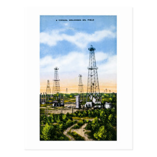 A Typical Oklahoma Oil Field Postcard