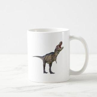 A Tyrannosaurus Rex Looking Up and Roaring Coffee Mug