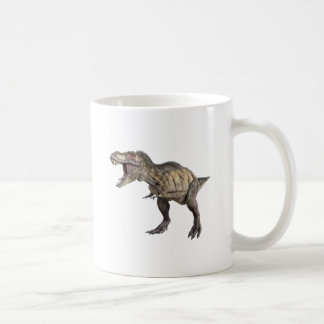 A Tyrannosaurus Rex Standing and Looking Right Coffee Mug