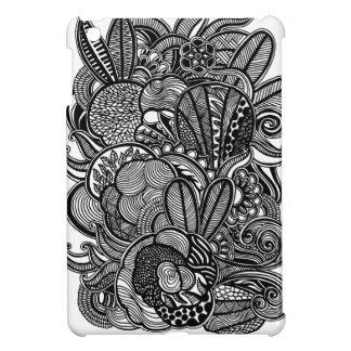 A unique Gardens #2 hand drawn iPad Mini case