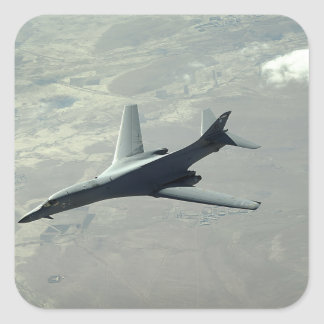 A US Air Force  B-1B Lancer on a combat patrol 2 Square Sticker