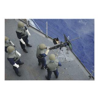 A US Sailor fires a 50-caliber M2HB Art Photo