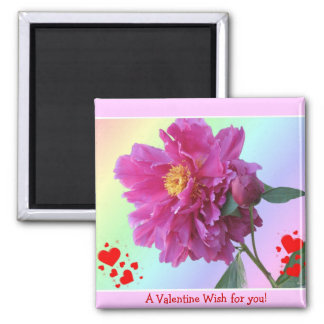 A Valentine Wish Square Magnet