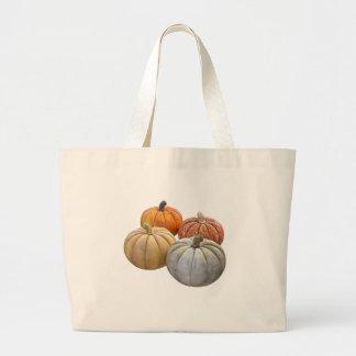 A Variety of Pumpkins Large Tote Bag
