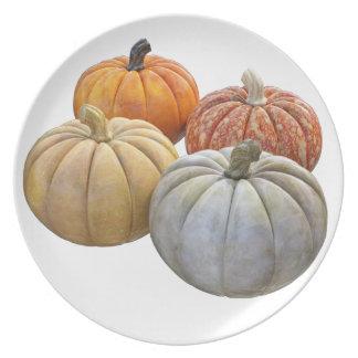 A Variety of Pumpkins Plate