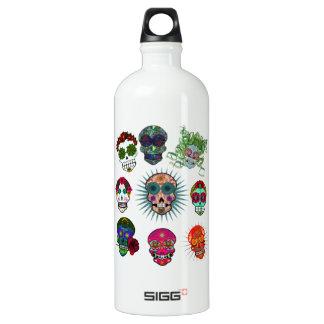 A Variety of Sugar Skulls Water Bottle