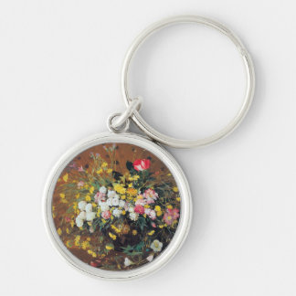 A Vase of Flowers Keychain
