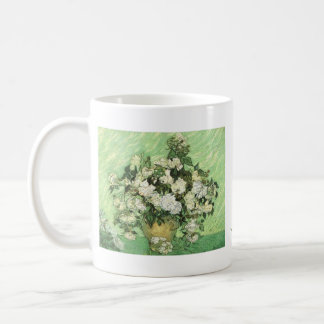 A Vase with Roses by Vincent van Gogh Basic White Mug