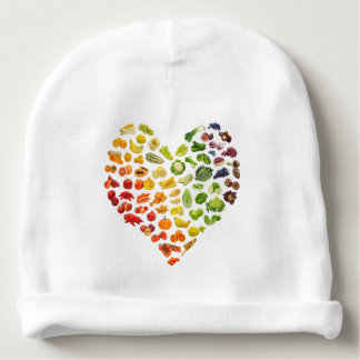 A Vegan Rainbow baby by Mini Brothers Baby Beanie
