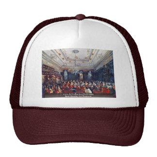 A Venetian Gala Concert By Francesco Guardi Mesh Hats