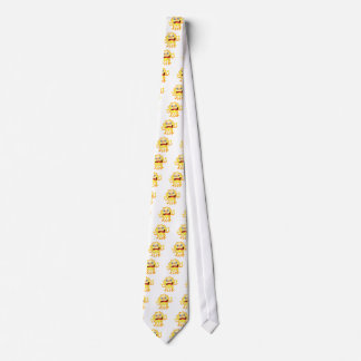A very angry yellow monster tie