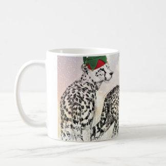 A Very Cheetah Christmas Wraparound Coffee Mug