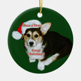A Very Corgi Christmas Gimli Pup Ornament