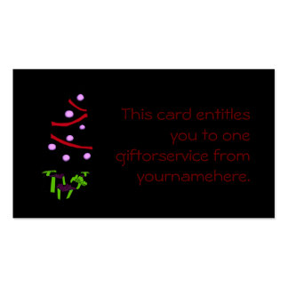 A Very Gothy Christmas Gift Token Pack Of Standard Business Cards