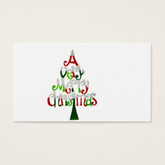 A Very Happy Christmas Tree With compliments cards