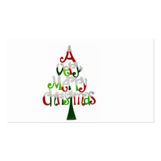 A Very Happy Christmas Tree With compliments cards Pack Of Standard Business Cards
